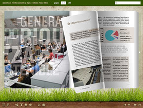 Online brochure with page flip effect