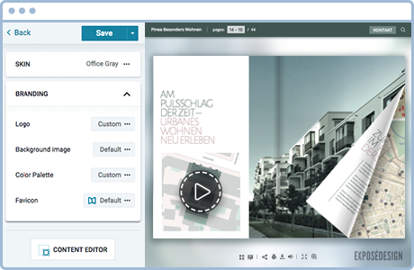 Customize and add interactive content