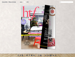 Online magazine with page flip animation