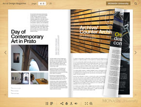 Digital Magazine with page flip effect
