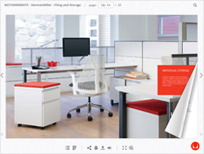 Online catalogue with page flip effect
