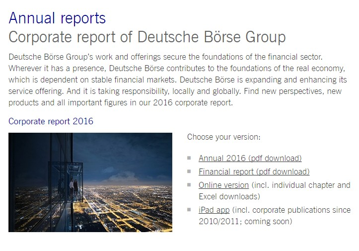 annual report various formats