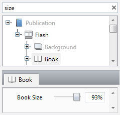 Search Field Window – FlippingBook Publisher