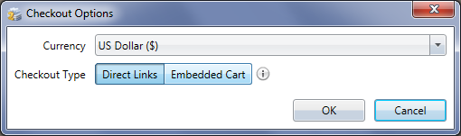 E-Commerce Checkout Options Window