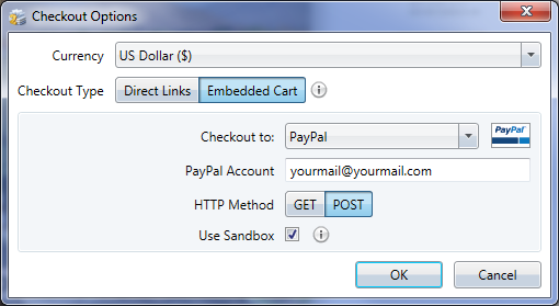 E-Commerce Checkout Options - Embedded Cart